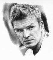 Pencil portrait of David Beckham by chaseroflight
