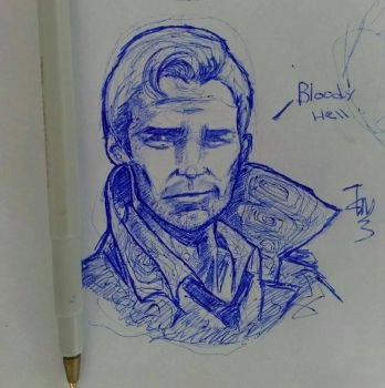 john constantine doodle by mtavaka124