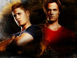 Supernatural-SamDean-HELL by spiritcoda