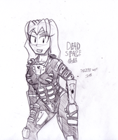 Dead Space Gal by TheIcedWolf