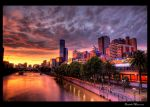 Melbourne Sunset HDR by DanielleMiner