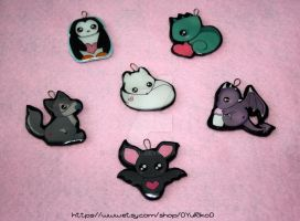 Polymer clay custom charms by o-YuRiko-o