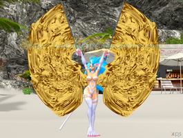 Felicia Belly Dancing with Isis Wings by NekoHybrid