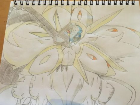 Solgaleo and its new form by celebi64