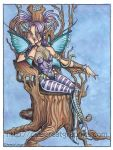 Goth Chic Fairy watercolor Art For Sale by lady-cybercat