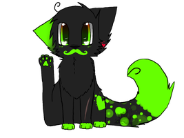 Mustache CaT by BubbleTeaCaT-Fleecy