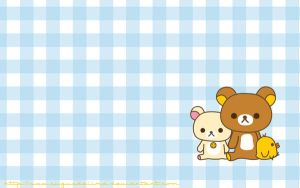 Rilakkuma Wallpaper - blue by sugusdelima