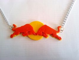 Red Bull Logo Necklace Comish by tyney123