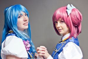 Chieri and Nagisa by Ally-bee