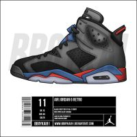Air Jordan 6 'Pistons' alt by BBoyKai91