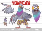 Pigeon Pete_TMNT_Design by Santolouco