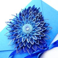 quilling envelope Blue by othewhitewizard