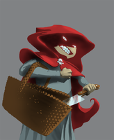 Little Red in the Hood by cardboardshark