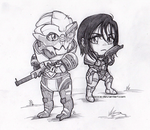 Shepard and Vakarian by chibicca