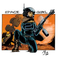 Space Girl Colored by artistjoshmills