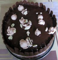 Pigs in the mud cake seen from another angle)) by JSjewelry