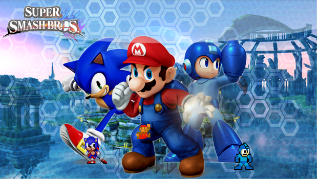 Mario, Megaman and sonic! by Kyon000