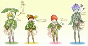 3/4 OPEN set price Wild Sprouts Adoptables by nekojizou