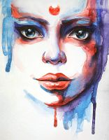 Watercolour portrait by LidiaGutman