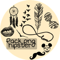 Pack png hipster by ItzyriB
