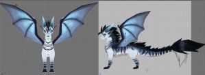 3d Dragon progress by Meegz0