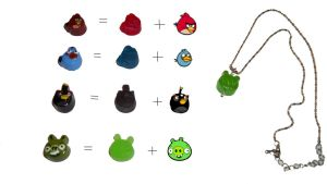 angry birds yummi pendents! by angelbaby88