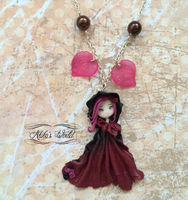 Red and black witch - Halloween collection by Akiko-s-World