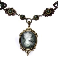 Steampunk Cameo Necklace 3 by CatherinetteRings