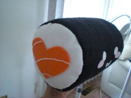 salmon roll plushie 2 by chococat830