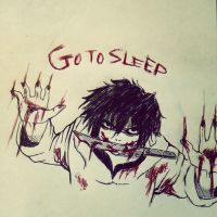 Go to Sleep -Jeff The Killer sketch by SaraMangaka