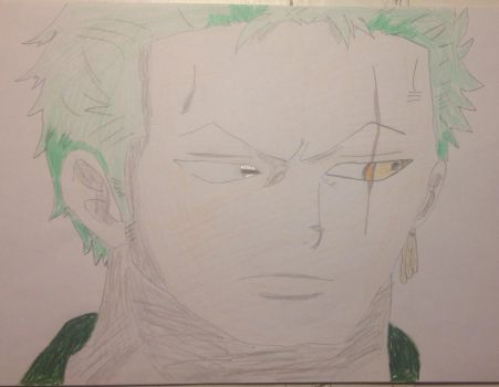 Inside Roronoa Zoro's left eye by ABURAMEFANFOREVER