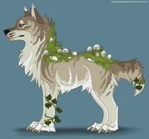 Mushroom canine adoptable #4 - CLOSED by Nereiix