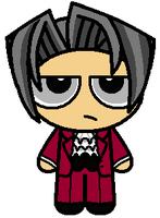 Ace Attorney - Edgeworth Puff by mikethesandbag