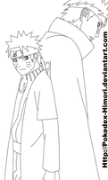 Naruto and Pain - 435 lineart by icaro382