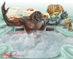 Just turned 21 - Jacuzzi Birth Day Commission by MuddyTiger