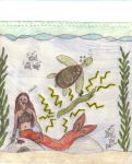Gracie, a turtle, and an eel by Nessie-carlie-cullen