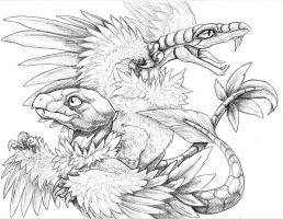 Ancient Birds Lineart by Tenshiryuu