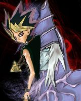Yami and Dark Magician by FallenDaw