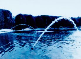 Fountains in Blue by atomicmufin