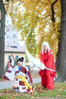 Kagura and Inuyasha by JamieCool