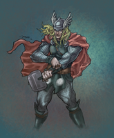 IllustriousBits Week 19 - Thor by JomanMercado