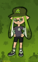 Green Inkling Girl by MeckelFoxStudio