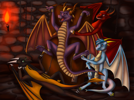Dragon tortures (commision) by Tomek1000