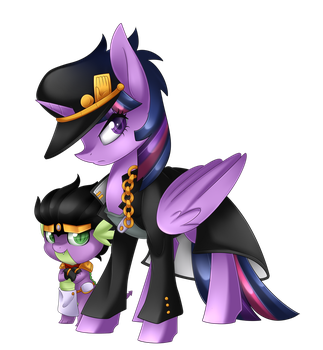 Twilight Kujo and Spike Platinum + Speedpaint by Scarlet-Spectrum