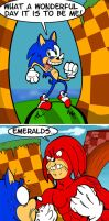 Sonic Vs Knuckles by ZoDy