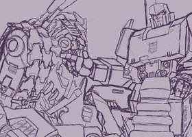 Megatron and Tarn by just-nuts