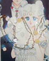 Sailor Moon - Princess Serenity crystal necklace by Bunnymoon-Cosplay