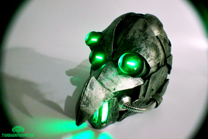 Dr. Zeddicus Verruckt - plague doctor mask by TwoHornsUnited