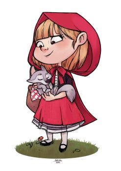 Red Riding Hood by Caelys-illustrations