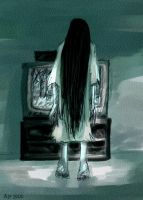 Sweet little Sadako by andrael